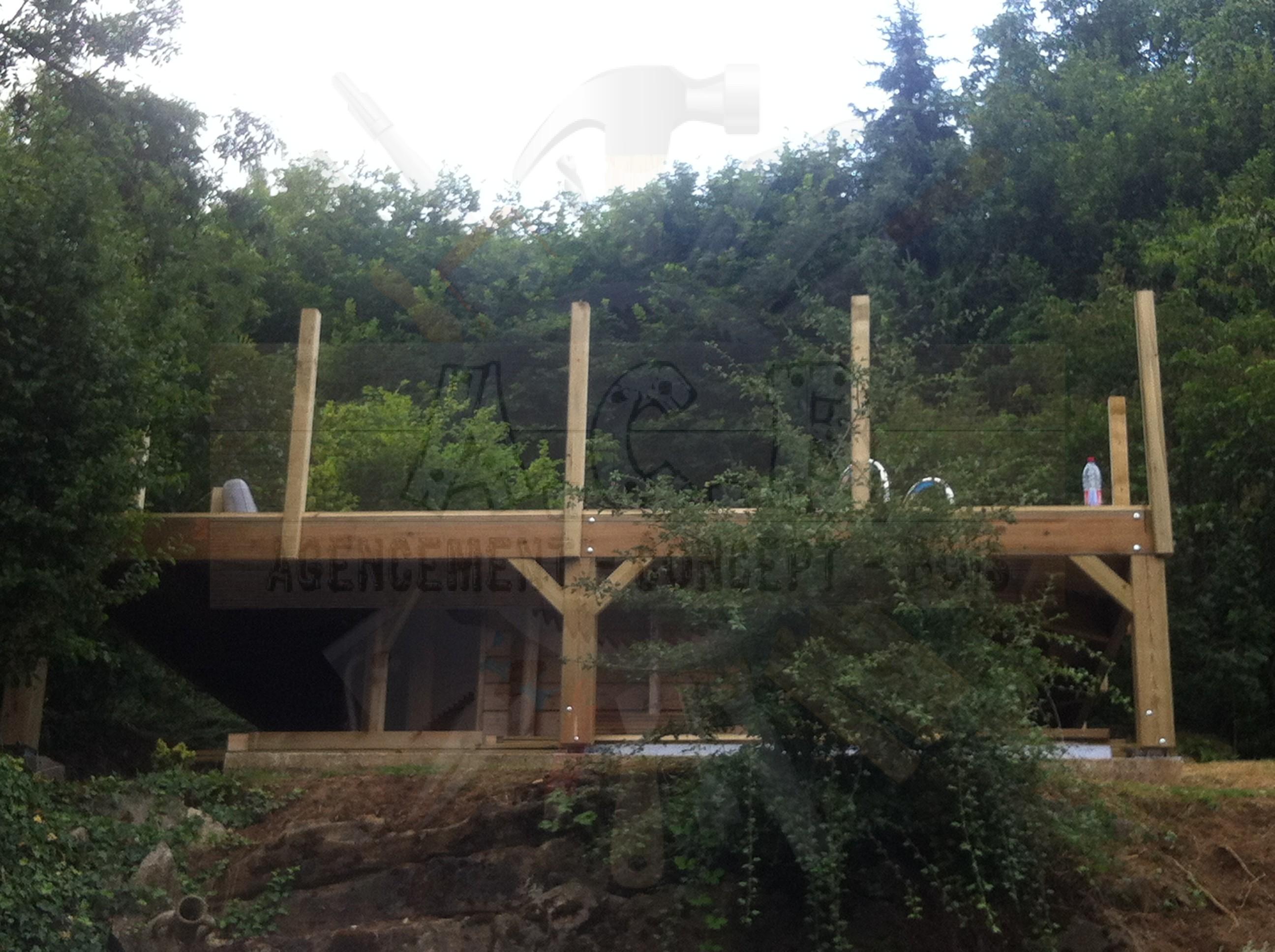 Entourage piscine agencement concept bois - Bassin bois concept asnieres sur seine ...